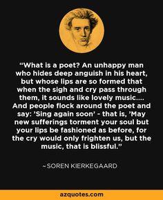 Image result for s kierkegaard what is a poet