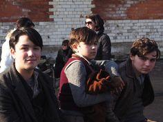 Savva, Nico & George - Christina Noble's real-life grand children appear in today's scene.