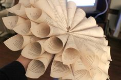 Rolled Book Page Wreath