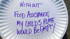The Oregon Food Bank gathered each that emergency food recipients created. The plates were delivered to state legislators, urging them to make hunger a priority. Oregon Food Bank, Emergency Food, Pie Dish, Paper Plates, Campaign, How To Get, Messages, Text Posts