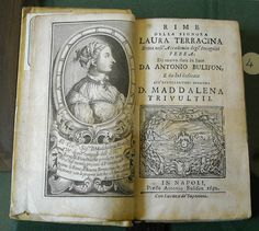 """""""Rime"""" by Laura Terracina (Naples 1692) - Exhibition at """"Institute of Historical Studies"""", founded by Benedetto Croce in Naples 