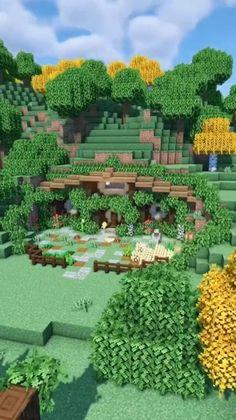 Images Minecraft, Minecraft Farm, Minecraft Cottage, Easy Minecraft Houses, Minecraft House Tutorials, Minecraft Castle, Minecraft Construction, Amazing Minecraft, Minecraft Tutorial