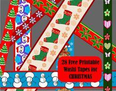28 Free Printable Christmas Washi Tapes