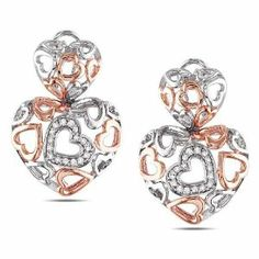 Sterling Silver 1/4 CT TDW Diamonds Stud earrings (G-H, I3) Amour. $162.00. Save 53%!