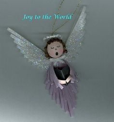 quilled Christmas angel