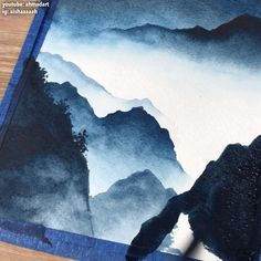 Diy Art Painting, Mountain Painting Acrylic, Art Drawings, Watercolor Art Lessons, Amazing Art Painting, Mountain Paintings, Diy Canvas Art Painting, Watercolor Landscape, Painting Art Projects