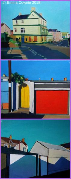 Urban streetscapes by Swansea Artist Emma Cownie
