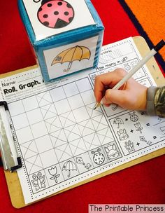 Graphing and data analyzing for Kindergarten! Perfect for spring.