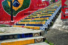 Selaron's Stairs (Escadaria Selarón), Rio de Janeiro, Brazil.