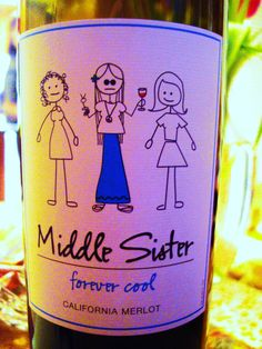 middle sister wine - Her college years.  Theresa & I are all but forgotten at this time of her life.