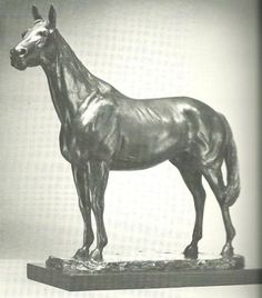 Bronze Sculptures of Sport #by #sculptor Enzo Plazzotta titled: 'Study for Red Rum (Small Bronze Race Horse Sculptures)' £5500 #art