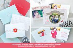 Modular Holiday Card & Sales Kit: Merry Modern