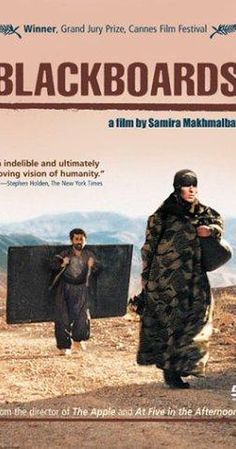 Directed by Samira Makhmalbaf.  With Said Mohamadi, Behnaz Jafari, Bahman Ghobadi, Mohamad Karim Rahmati. Itinerant Kurdish teachers, carrying blackboards on their backs, look for students in the hills and villages of Iran, near the Iraqi border during the Iran-Iraq war. Said falls in with a group of old men looking for their bombed-out village; he offers to guide them, and takes as his wife Halaleh, the clan's lone woman, a widow with a young son. Reeboir attaches himself to a dozen…