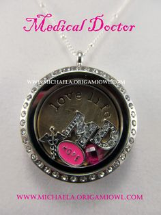 Origami Owl Medical Doctor Locket, purchase yours today! You could change out the initials to represent your profession: PT, OT, EMT, RN, etc...   www.melissadettmer.origamiowl.com