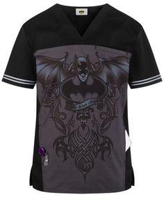 4238a789f18 Cherokee Tooniforms Batman Dark Knight Men's Scrub Top Sz S-XXL NWT  #CherokeeTooniforms Batman
