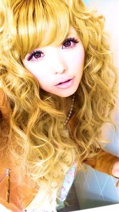 Tsubasa Masuwaka with her signature curly hair