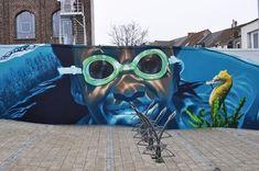 artista de la calle de Bélgica.  smates