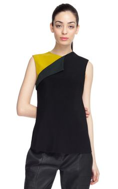 Matte Silk Crepe Blouse by Narciso Rodriguez