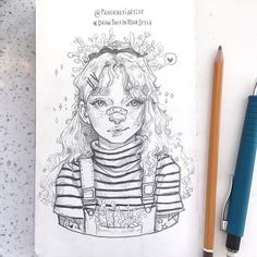 Inspiration Art, Sketchbook Inspiration, Art Inspo, Art Drawings Sketches, Cute Drawings, Drawing Art, Arte Sketchbook, Illustration Art, Illustrations
