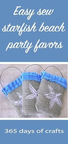 Easy sew starfish beach party favors Beach Party Favors, French Country Decorating, Sewing For Beginners, Learn To Sew, Thank You Gifts, Starfish, Crafts To Make, Diy Ideas, Home Improvement