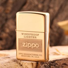 Zippo High Polished Brass Windproof With Logo Lighter