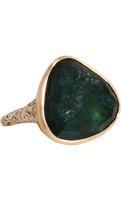 Anaconda Green Tourmaline In Between Ring