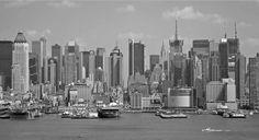 Vlies fotobehang Manhattan harbour - Steden en skyline behang | Muurmode.nl