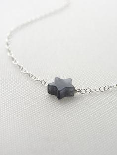 Tiny Jade Star Necklace