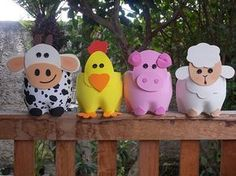 Farm Animals   Goody Bags  Party Bags  Favor Bags by DigiDivaShop