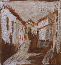 Calle de pueblo Fuente Obejuna 1-2003 Paisaje por PINACOTHECULA