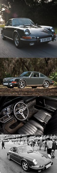 1970 Porsche 911 S from Steve McQueen's movie Le Mans auctioned for $1.375 mio at Monterey/ Slate grey / Germany