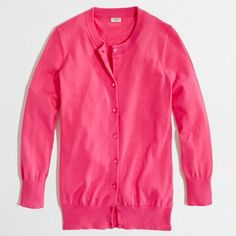 J. Crew Bright Pink Clare Cardigan 100% cotton cardigan from J. Crew in a happy and bright pink color! In perfect condition, I just have too many of these cardigans. Wonderful addition to any preppy wardrobe. I consider all offers and have great bundle discounts! J. Crew Sweaters Cardigans