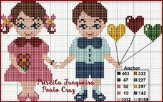 Parejita Stitch Doll, Stitch 2, Lovers Day, Cross Stitch Baby, Easter Crafts, Projects For Kids, Blackwork, Shabby, Kids Rugs