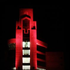 Way to go Red Wolves! Light the Library red!