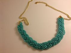 braided necklace DIY