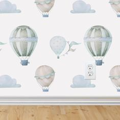 Such Great Heights Wallpaper Removable Wallpaper Peel and Stick Wallpaper Sky Wallpaper Hot Air Balloon RockyMountainDecals Nursery Baby Wallpaper, Wallpaper Size, Self Adhesive Wallpaper, Peel And Stick Wallpaper, Bedroom Wallpaper, Wallpaper Wallpapers, Boys Nursery Wallpaper, Wallpaper Ideas, Baby Bedroom