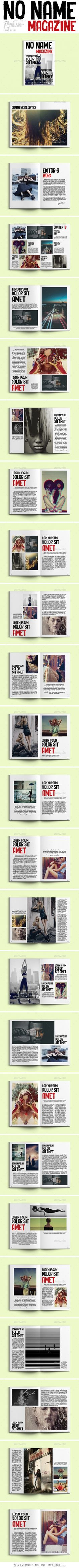 No Name Magazine Template #design #magazine Download: http://graphicriver.net/item/no-name-magazine/12002641?ref=ksioks