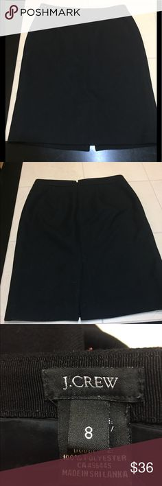 """The perfect professional and classic black skirt Flawless and timeless. This is a must have closet staple for every lady that dress's up daily or occasionally. It's 100% wool so it can be worn year around. Most people don't know this thin type of wool is breathable. That's why men wear wool suits in the summer. Waist is 16"""" and length is 23"""". Fully lined. J. Crew Skirts Pencil"""