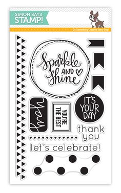 Simon Says Clear Stamps SPARKLE AND SHINE sss101487