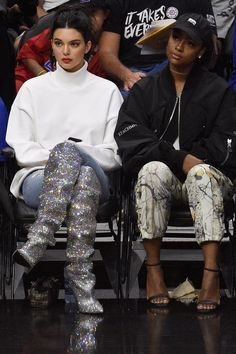 Kendall Jenner Sat Courtside Wearing the World's Most Distractingly Beautiful Boots