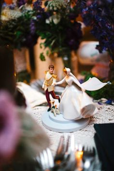 Cinderella and Prince Charming Disney Cake Topper