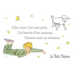 Carte postale Le Petit Prince - Dessine-moi un mouton 1