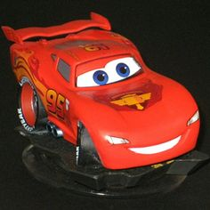 Disney Infinity RED Lightning McQueen figure only no retail packaging -- Read more reviews of the product by visiting the link on the image.