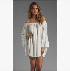 New Style Summer White Chiffon Dress
