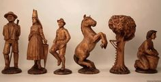Antique Chess Chess Set with Board