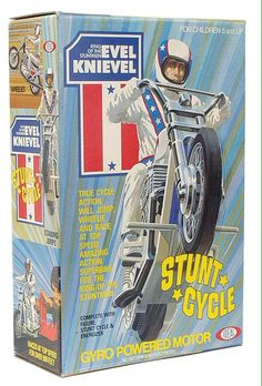 Stunt Cycle by Ideal Toys My Childhood Memories, Childhood Toys, Evel Knievel Toys, Evel Knievel Stunt Cycle, Vintage Television, Ideal Toys, Little Brothers, Retro Pop, Classic Monsters