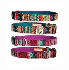 Aztec dog collar Navajo Native American Tribal Mexican colorful geometric fabric cute pet collar puppy small dog large dog collar dog leash