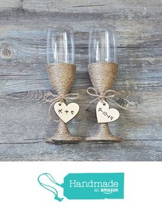 Custom Wedding Glasses Toasting Flutes Glasses Personalized Rustic Wedding Champagne Glasses Bride and Groom Glasses, Rustic Wedding Gifts from weddinghanger2015 http://www.amazon.com/dp/B01AP9AB2W/ref=hnd_sw_r_pi_dp_ae13wb0SGT4NB #handmadeatamazon