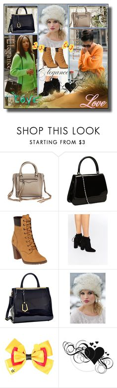 """""""set 62"""" by fahirade ❤ liked on Polyvore featuring Rebecca Minkoff, Timberland, Kendall + Kylie, Dasein and Disney"""