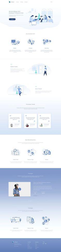 Education Platform Website - simple clean web page design
